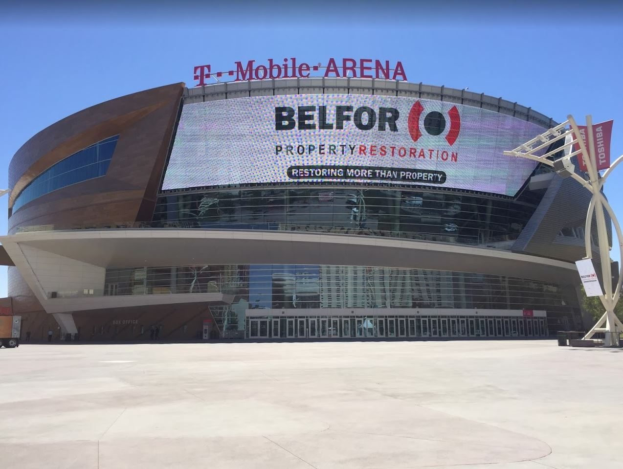 AEG Names BELFOR The Official Restoration Partner Of T Mobile Arena. (Photo  Curtesy Of AEG)