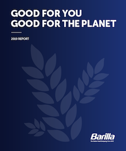 "Barilla ""Good for You, Good for the Planet"" – 2019 Report"