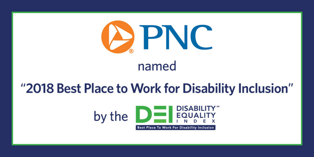 PNC Scores 100% on 2018 Disability Equality Index (DEI)
