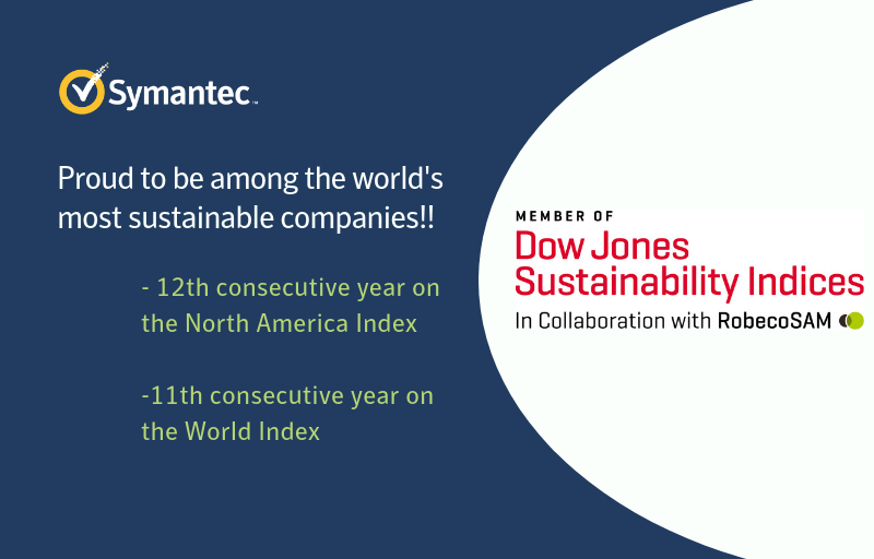 Symantec Once Again Named a Sustainability Leader on