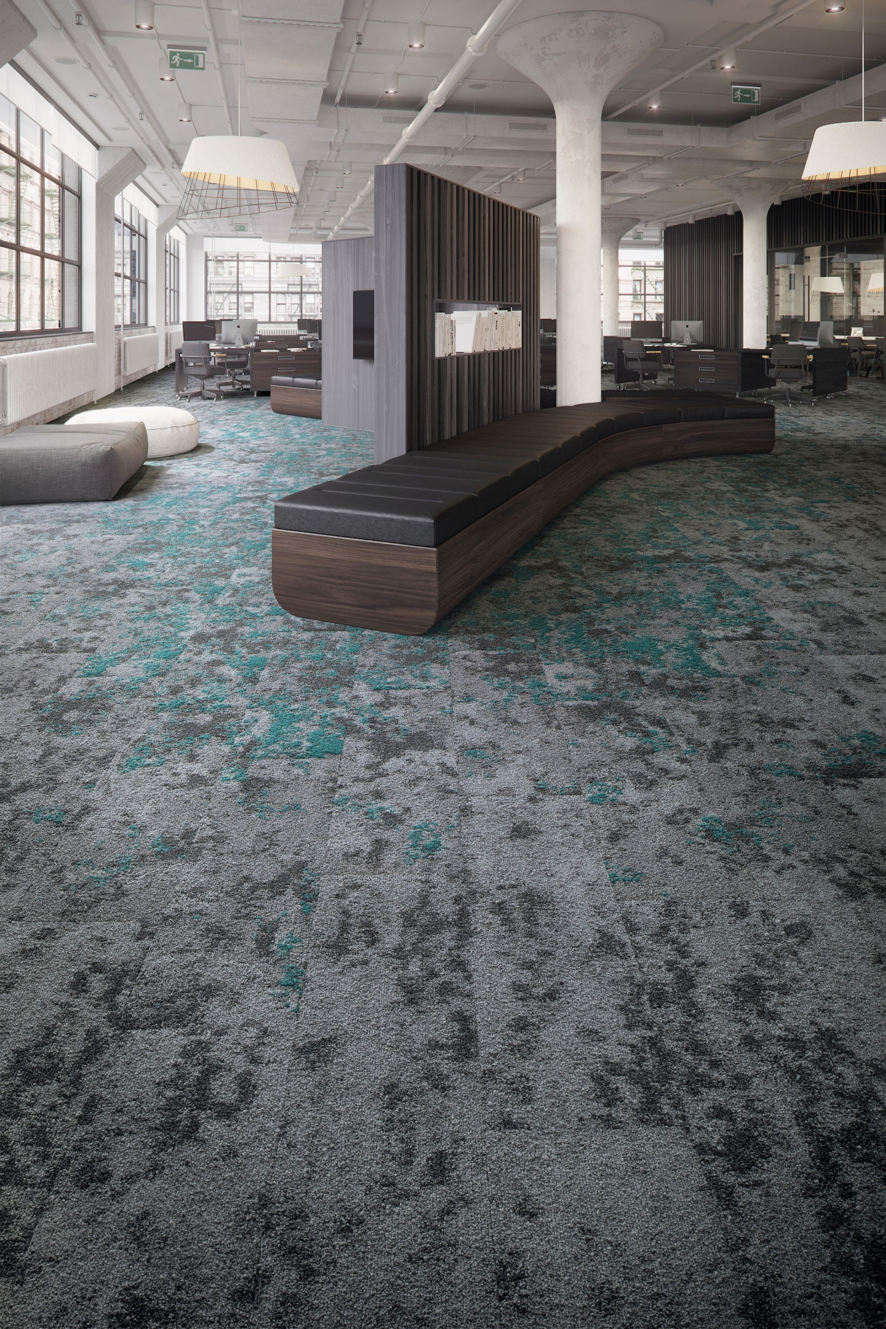 Mohawk Groups Lichen Wins Interior Design Best Of Year Award For Modular Carpet