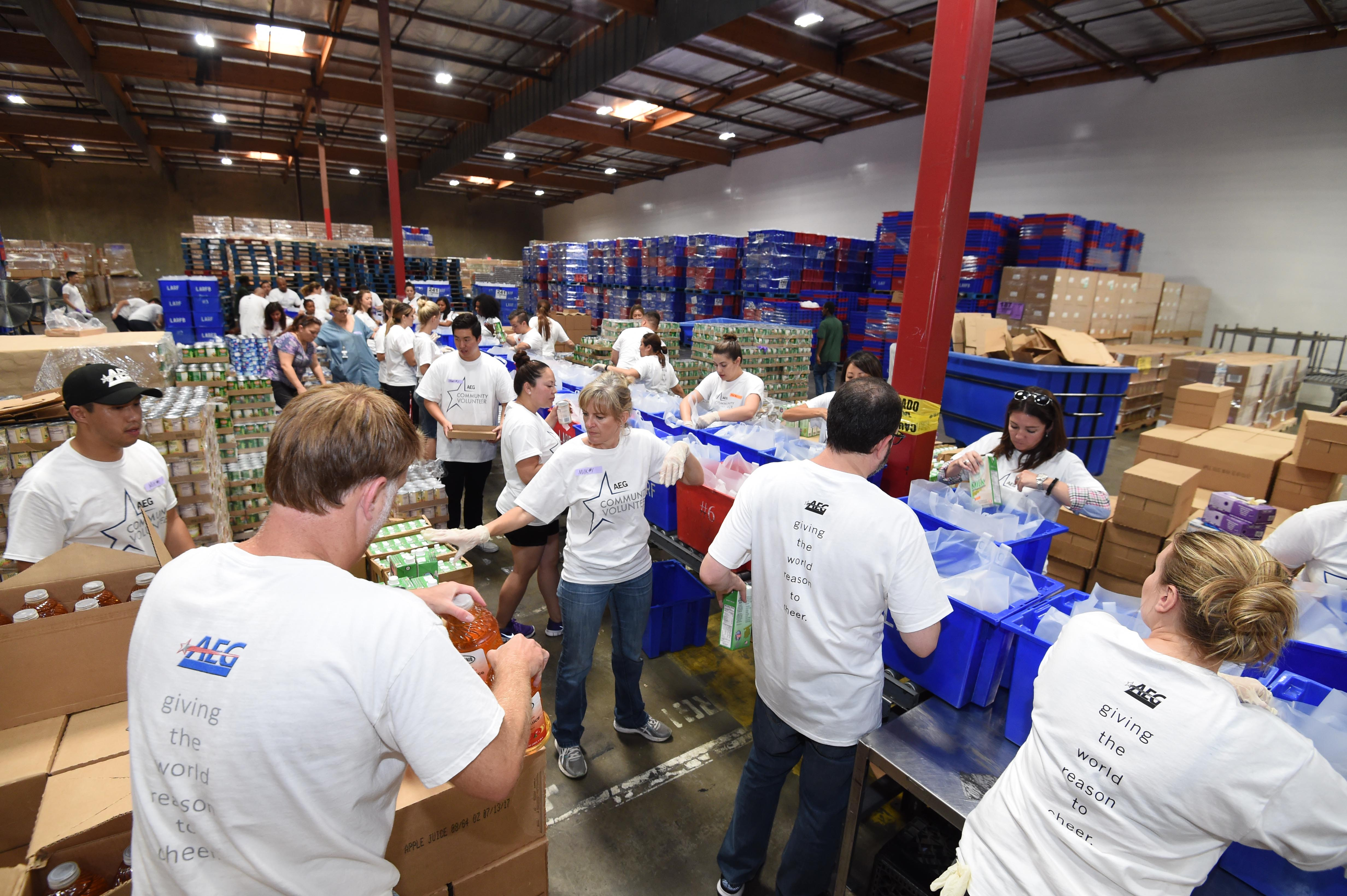 Aeg Partners With Los Angeles Regional Food Bank To Host Community