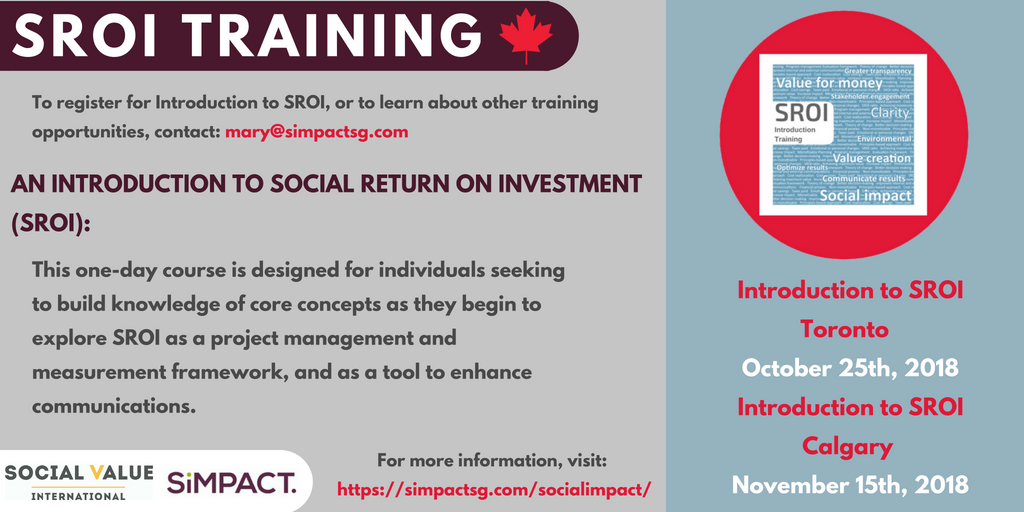 An Introduction To Sroi Training In Calgary And Toronto 3bl Media