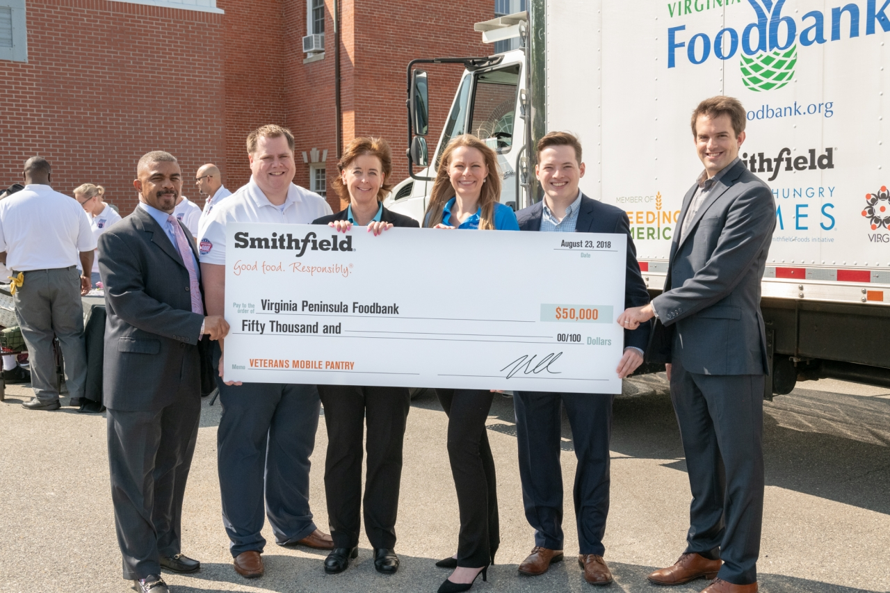 Smithfield Foods Supports Mobile Food Pantry for