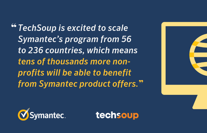 Symantec Expands Software Donation Partnership with TechSoup