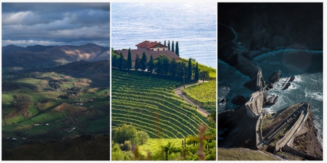 collage of three landscapes