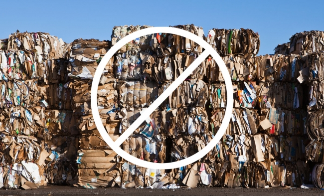 pile of recycling materials