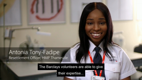 VIDEO | Barclays Citizenship Awards: Sabrina Boanu-Williams Works with the Thameside Prison Initiative