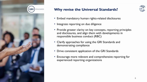Contribute to the Evolution of the GRI Standards