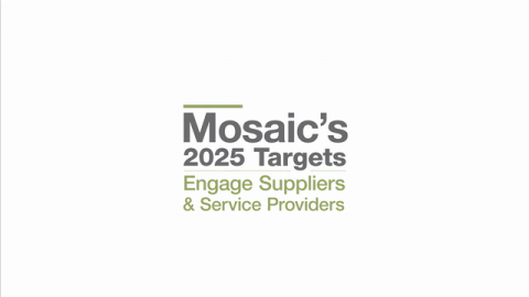 Mosaic's 2025 ESG Performance Targets - Engage Suppliers and Service Providers Annually