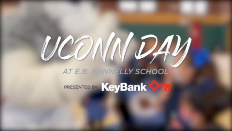 """KeyBank Partners With UConn and Husky Ticket Project to Host """"UConn Day"""" at Kennelly School"""