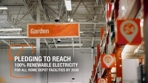 The Home Depot Reduced Carbon Emissions by More Than 127,000 Metric Tons in 2020; Commits to 100 Percent Renewable Electricity for Facilities by 2030