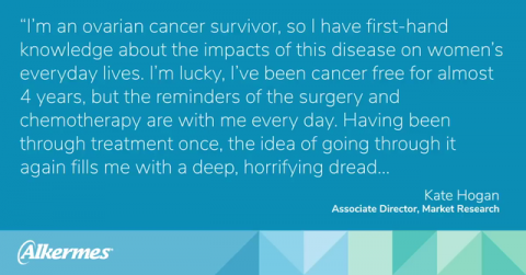 Alkermes Associate Director Discusses How Her Personal Journey With Ovarian Cancer Influences Her Work