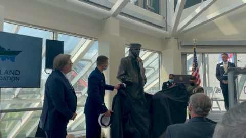 USS Cleveland Legacy Foundation and KeyBank Mark Dedication and Unveiling of the Lone Sailor Statue Along Cleveland's Waterfront