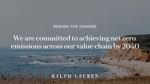 During Climate Week, Ralph Lauren Reaffirms Its Commitment to Achieve Net Zero