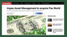 SRI Mega-Merger: Impax Asset Management Group Acquires Pax World Management - The Minute