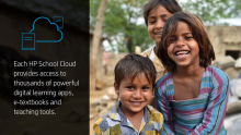 HP School Cloud Brings Digital Learning Resources to Schools Without Internet