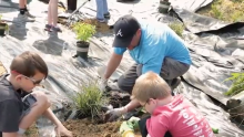 Duke Energy Partners with Indiana Schoolchildren to Build Rain and Butterfly Gardens at Floyd County Park