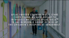 VIDEO | Country Music Stars Chris Young and Chase Bryant Introduce My Special Aflac Duck™ to Kids Battling Cancer