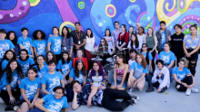 Nickelodeon Interns Help Bring Burbank High Student's Mural Design to Life