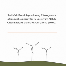 ALLETE Clean Energy's Diamond Spring Wind Project Will Provide Renewable Energy to Large Corporate Customers Including Smithfield Foods and Walmart