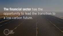 Major Private Sector Institutions Present Solutions for Mobilizing Climate Finance
