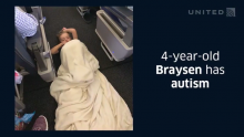 A Boy With Autism Wouldn't Sit Still on a United Airlines Flight. So Crew and Passengers Stepped in to Help.