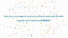 eBay for Charity Raises $1 Billion: Thank You to Our Community