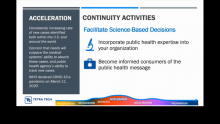 Tetra Tech Provides Guidance on Adapting Your Business Continuity Plan during the COVID-19 Pandemic