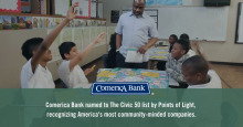 Comerica Bank Named One of the 50 Most Community-Minded Companies in the United States