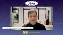 The President and Chief Executive Officer of Ford Motor Company, Jim Farley, Accepts the Gold Medal Award