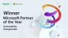 Schneider Electric Recognized as 2021 Microsoft Sustainability Changemaker Partner of the Year Award winner