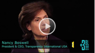 Ethical Sourcing Forum 2011 - An Interview with Nancy Boswell, President and CEO at Transparency International USA