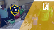 LA Galaxy Visit Patients at Children's Hospital Los Angeles