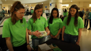 Michigan High Schoolers 'School' FCA Employees for Earth Day