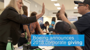 Boeing Announces Nearly a Quarter-Billion Dollars in Corporate Giving in 2018