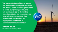 P&G Purchases 100% Renewable Electricity in U.S., Canada and Western Europe