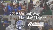 Albertsons Community Team Volunteers Fill Care Packages at United Way's 2019 Holiday Helper Event