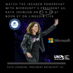 Microsoft's President US, Kate Johnson - Keynote PowerChat with Ideagen's CEO George Sifakis