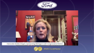 The Honorable Debbie Dingell presents the Gold Medal Award to the Ford Motor Company